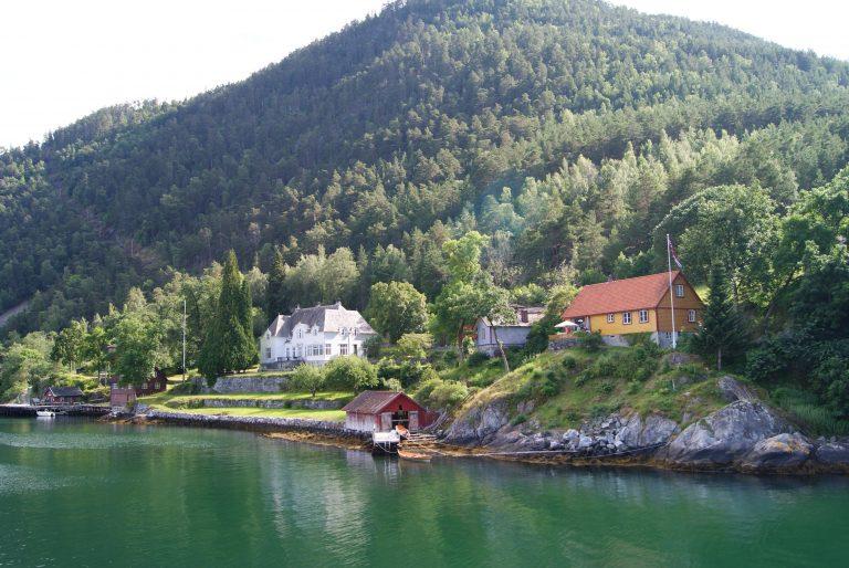 Vistas del Fiordo Noruega