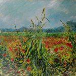 Vincent van Gogh. Campo de trigo y amapolas, 1888