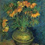 Van Gogh. Coronas Imperiales en un jarrón de cobre. 1887