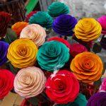 Flores de madera