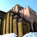 Zoloti Vorota. La  Puerta de Oro en invierno