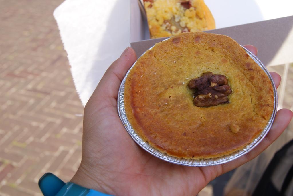 pastel con nueces