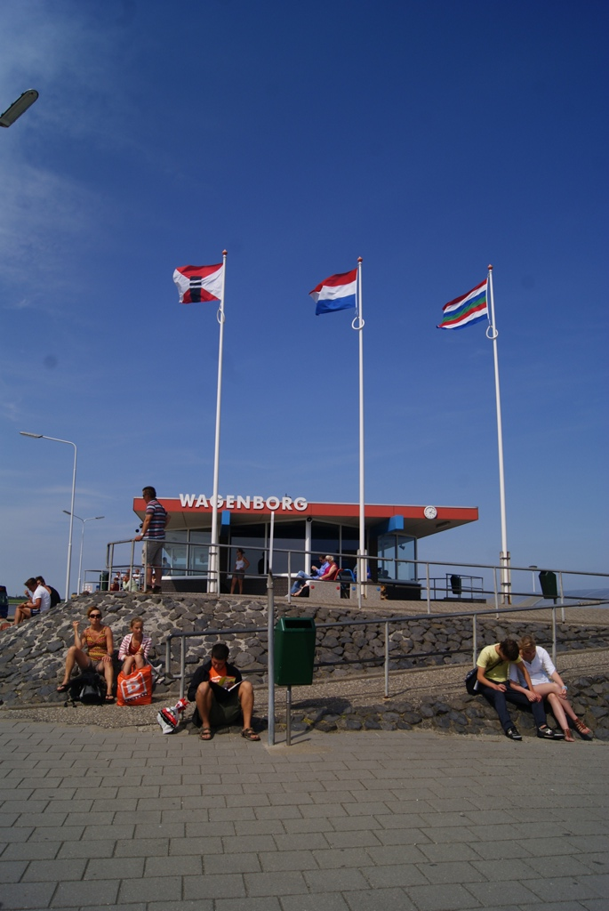 En el puerto de Schiermonnikoog Holanda
