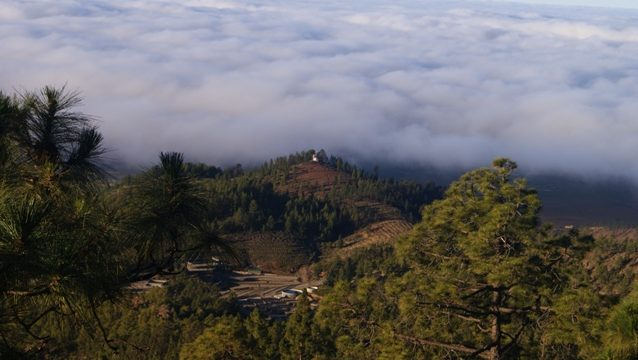 Por encima del mar de nubes en Tenerife