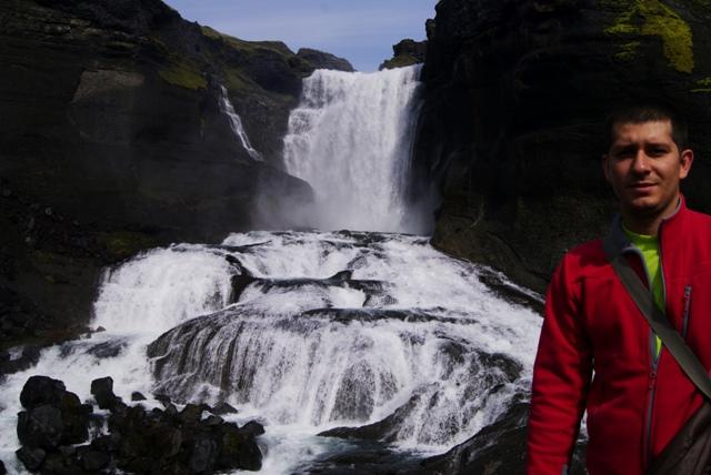 Islandia, Iceland, Landmannalaugar, Ófaerufoss