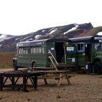Islandia, Iceland, Landmannalaugar, campo base