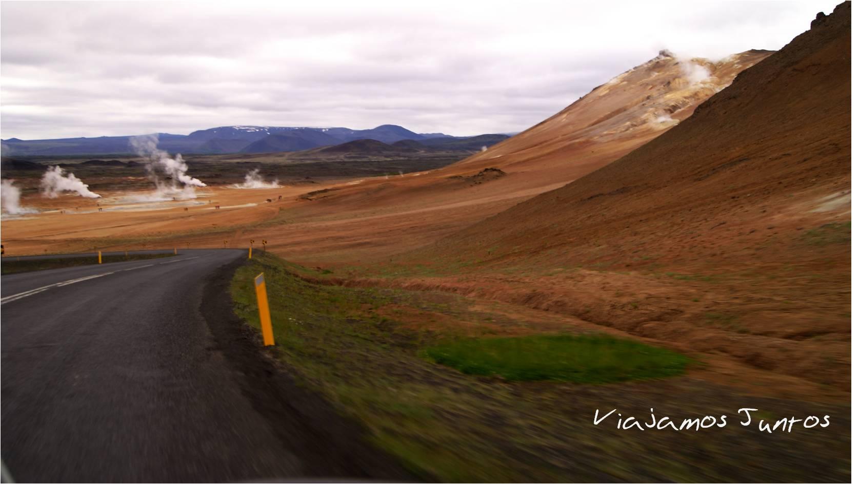 Myvatn, Islandia, lago, senderismo, volcanes