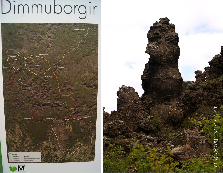 dimmuborgir, myvatn, islandia, iceland, viti, krafla, leirhnjukur, rutas, coche, viaje