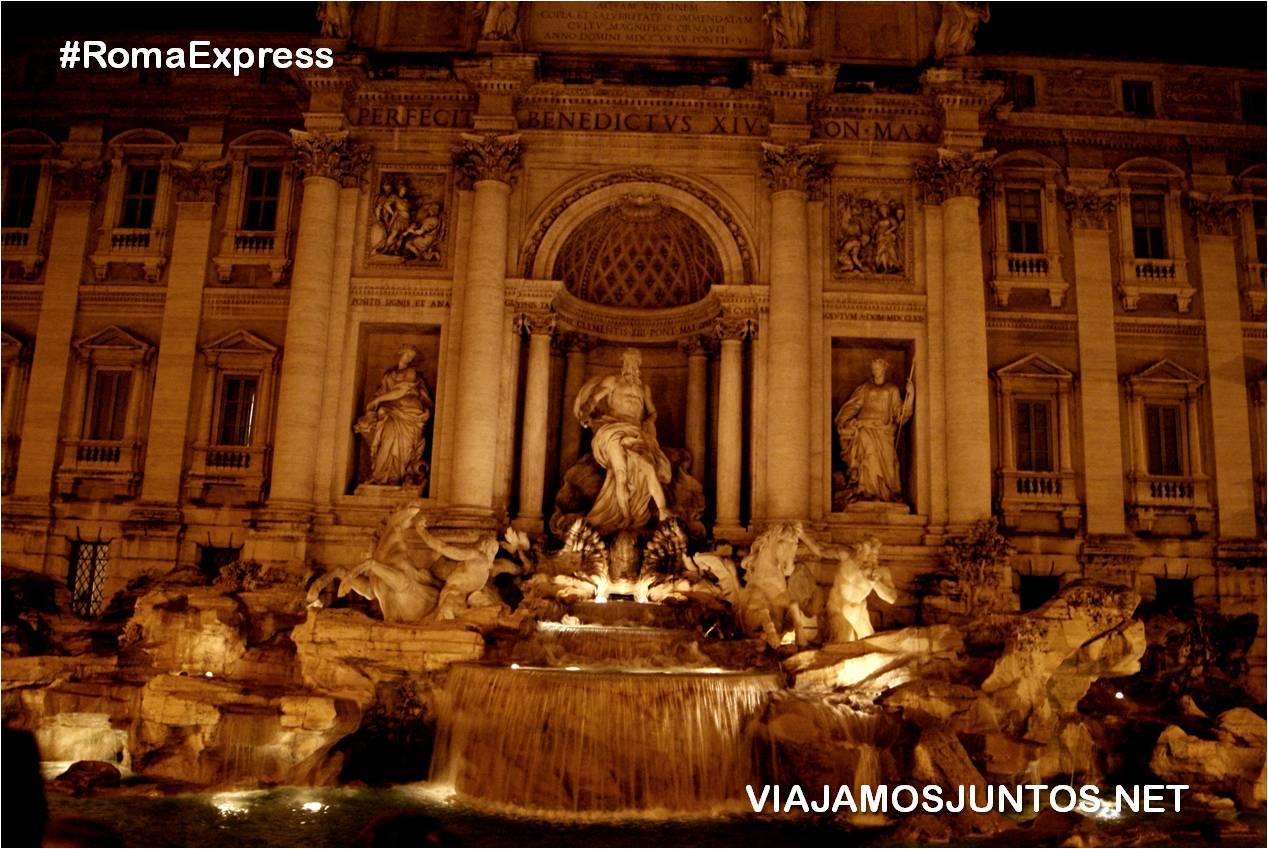 Roma. Italia, viajar por libre, fuente de Trevi