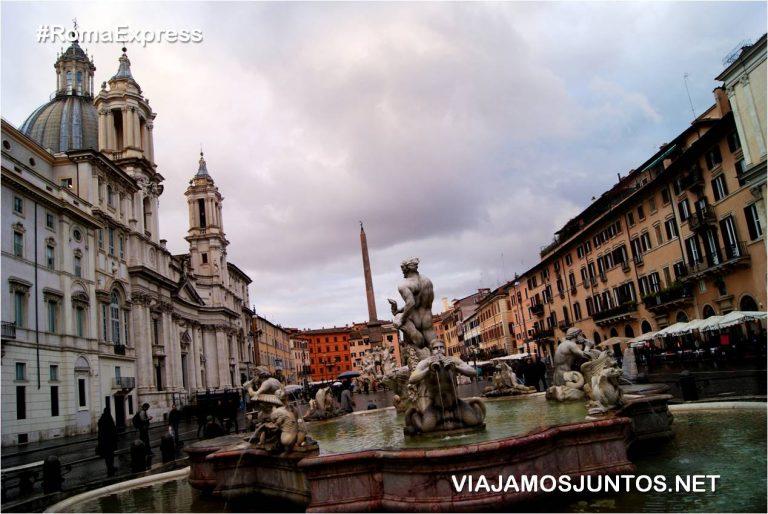 Roma. Italia, viajar por libre, Plaza Nova, Piazza Navona, Bernini