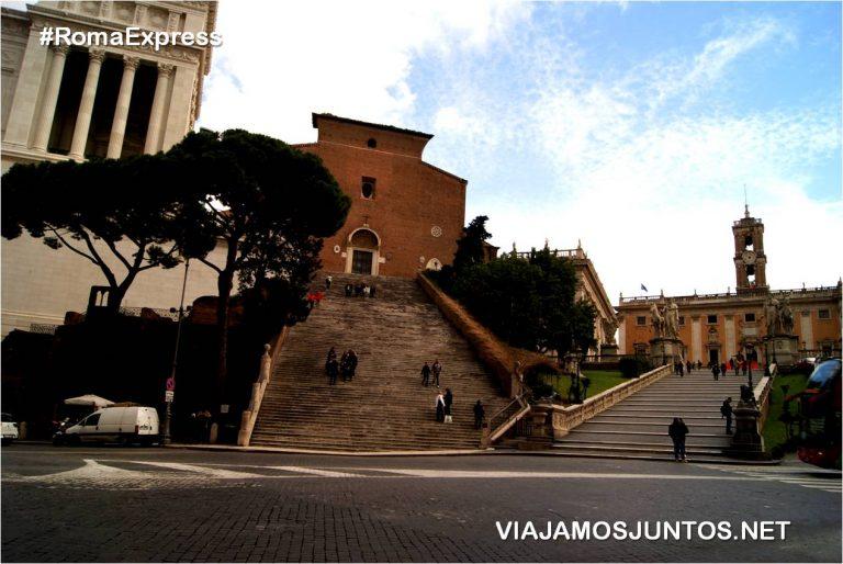 Roma. Italia, viajar por libre, Monte Capitolino, Escalata, Narcello