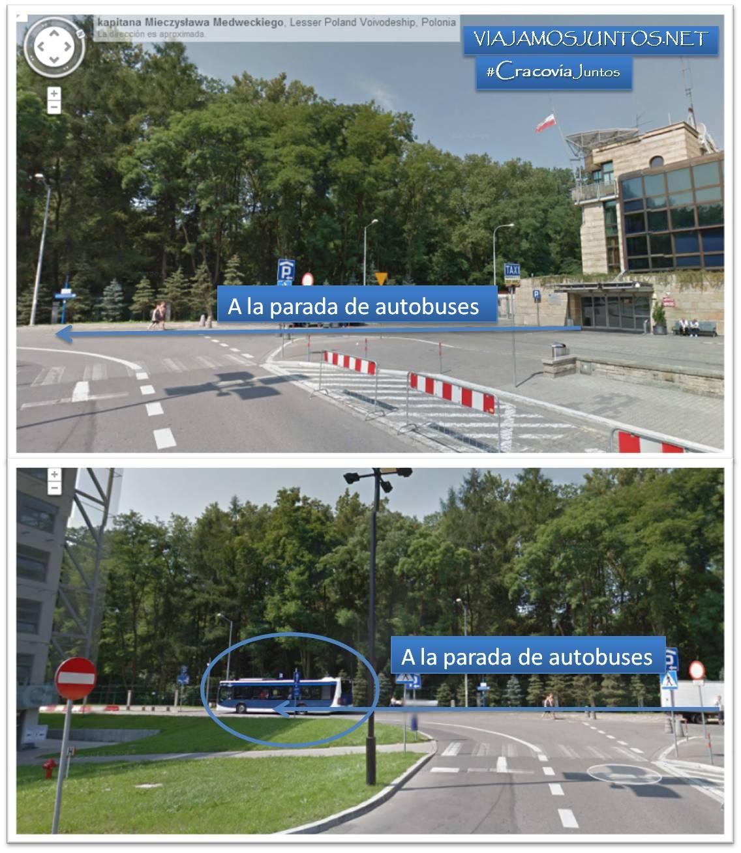 Cracovia, Polonia, aeropuerto, autobus, transporte publico, como llegar