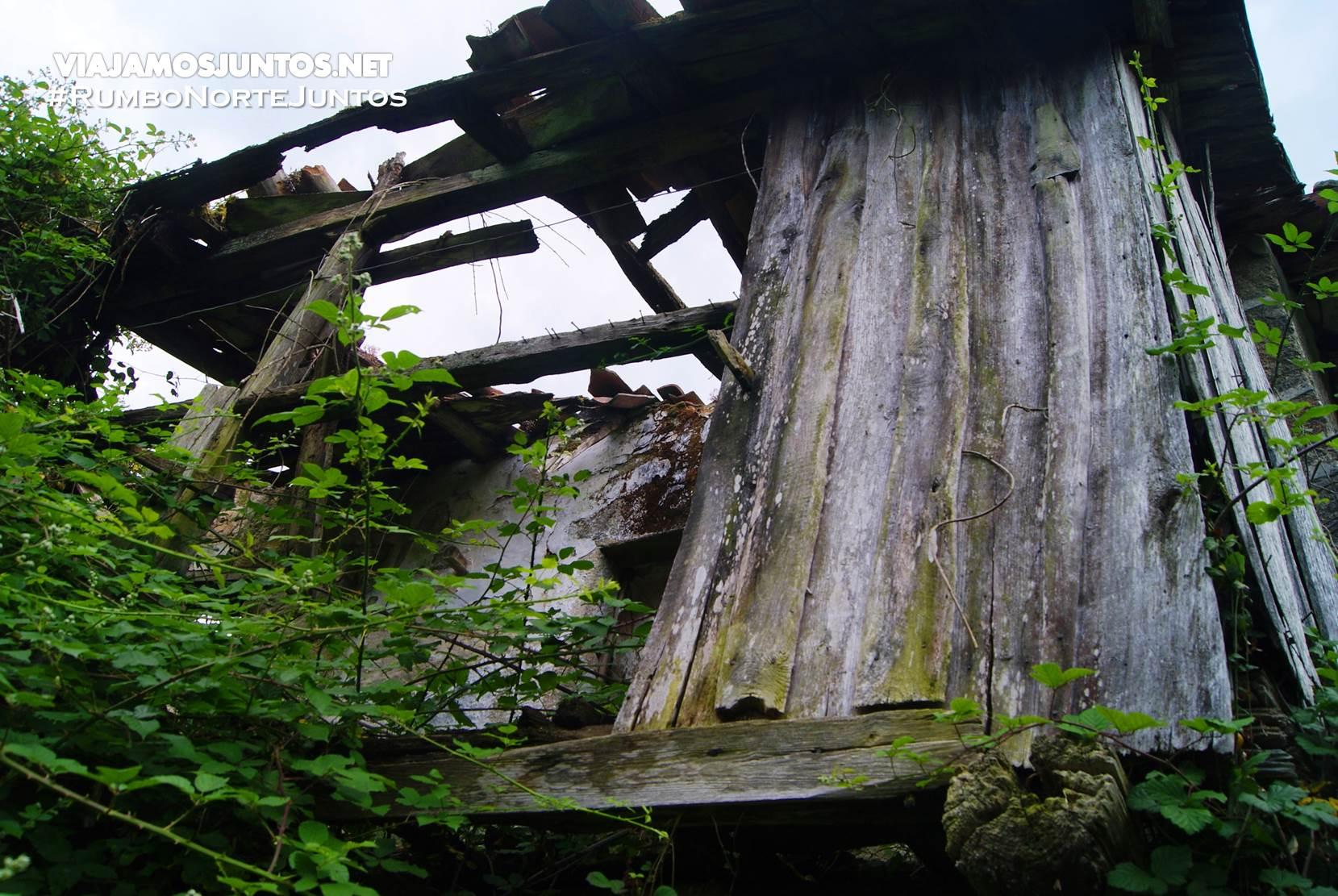 Pueblo fantasma de la ruta del Cañón del río Sil