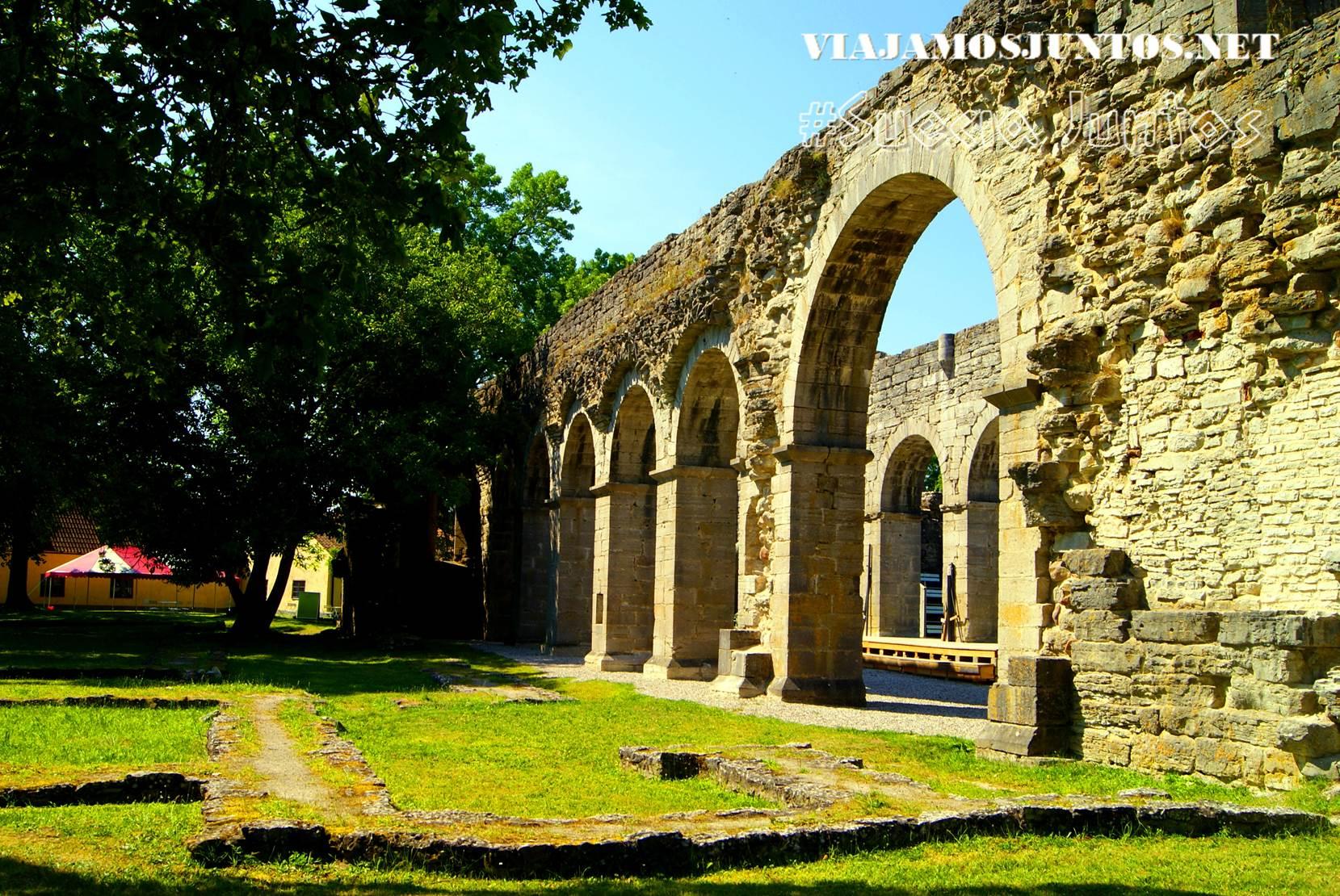 El monasterio de Roma, isla de Gotland, Suecia