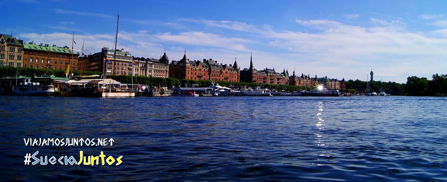 Vistas de Estocolmo desde un crucero, Suecia