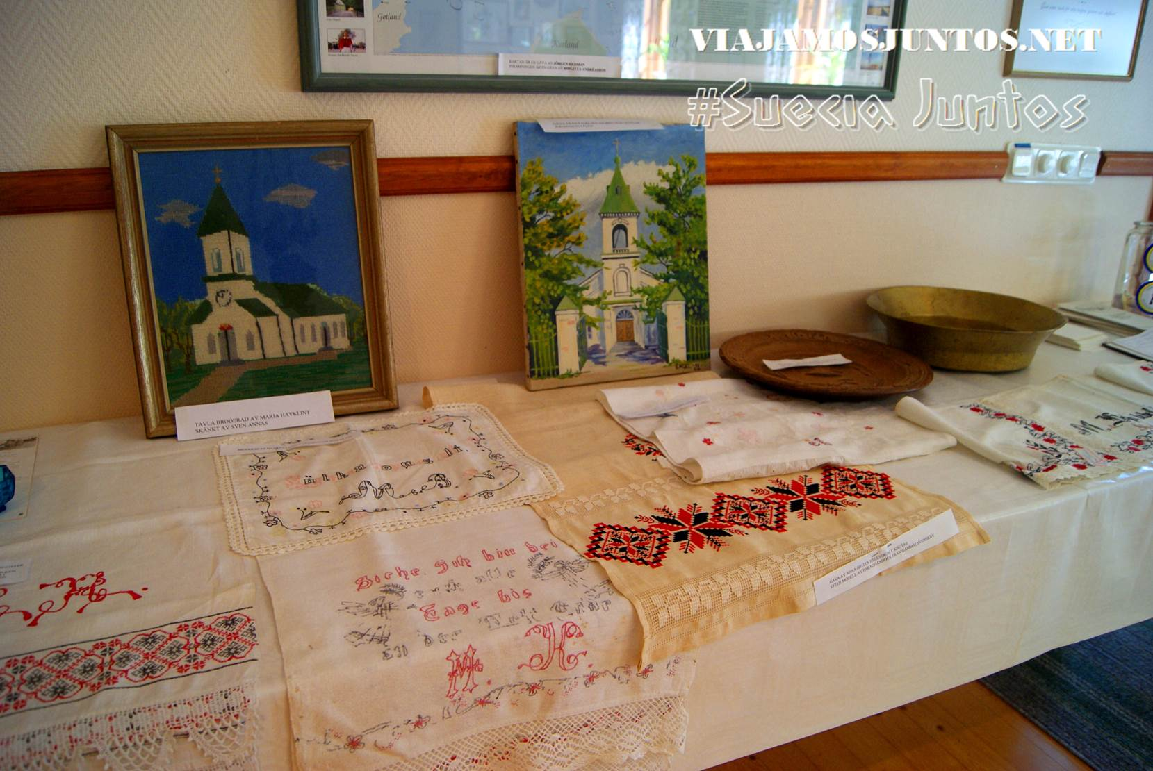 Exposición ucraniana en el museo de los emigrantes suecos, isla de Gotland, Suecia