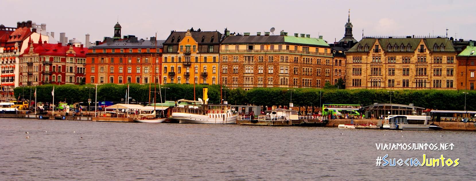 Vistas de Estocolmo desde las aguas, Suecia
