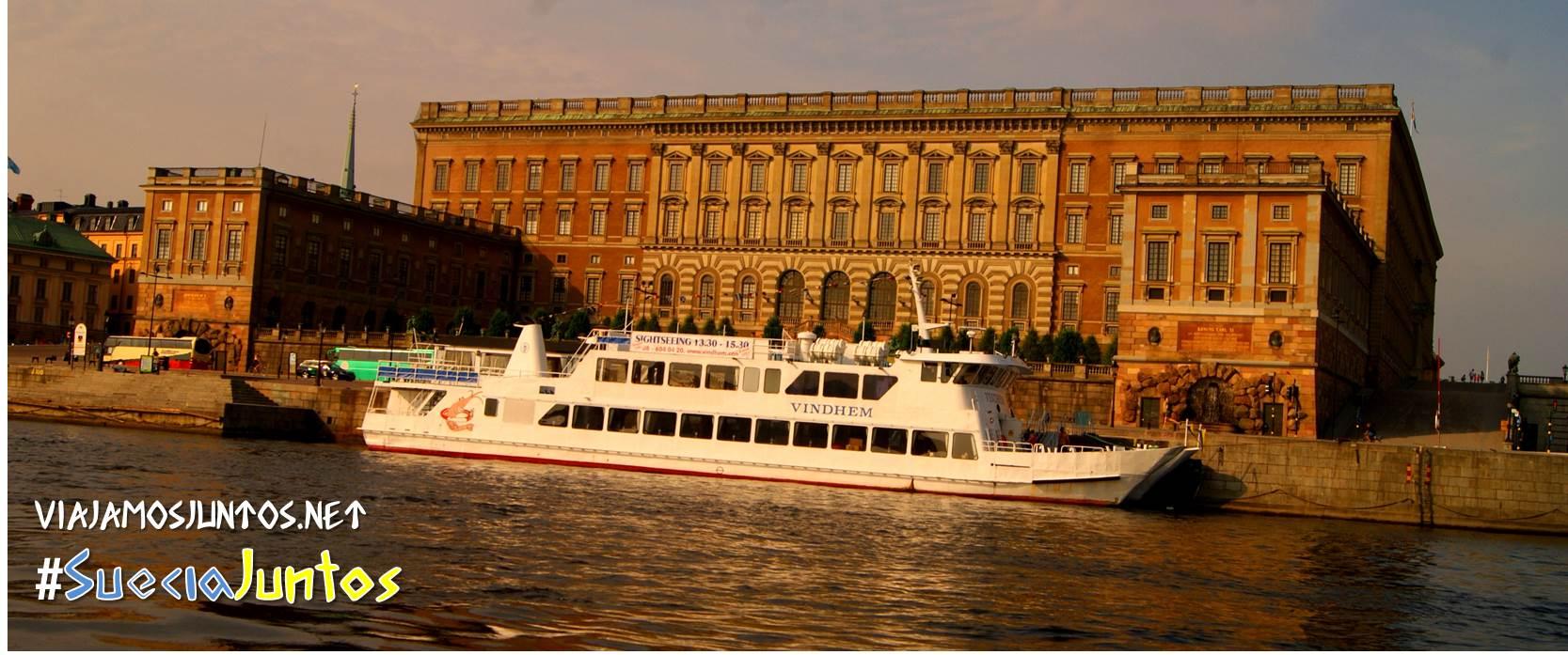 Vistas de Estocolmo desde el agua, Suecia