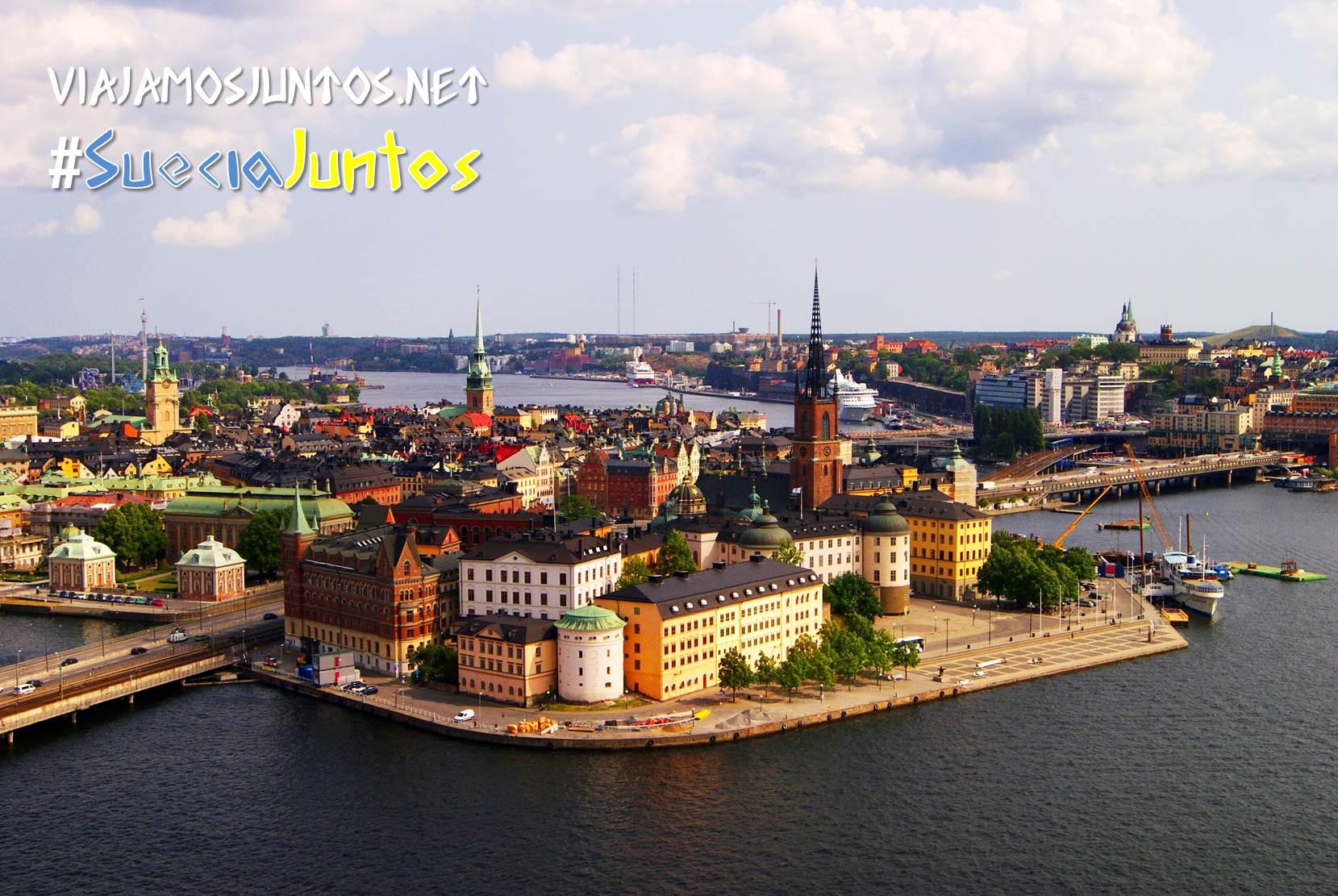 Vistas desde la torre de Stadshuset al Casco Viejo, Estocolmo, Suecia