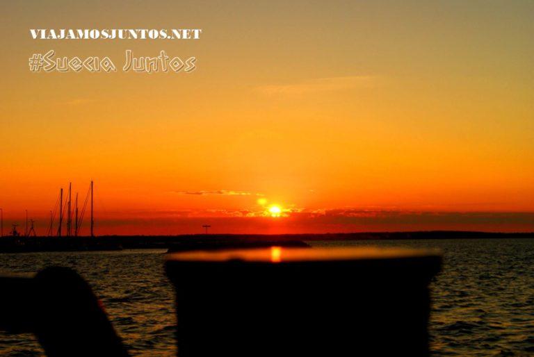 Las puestas de sol más bonitas son desde el agua; la isla de Gotland, Suecia
