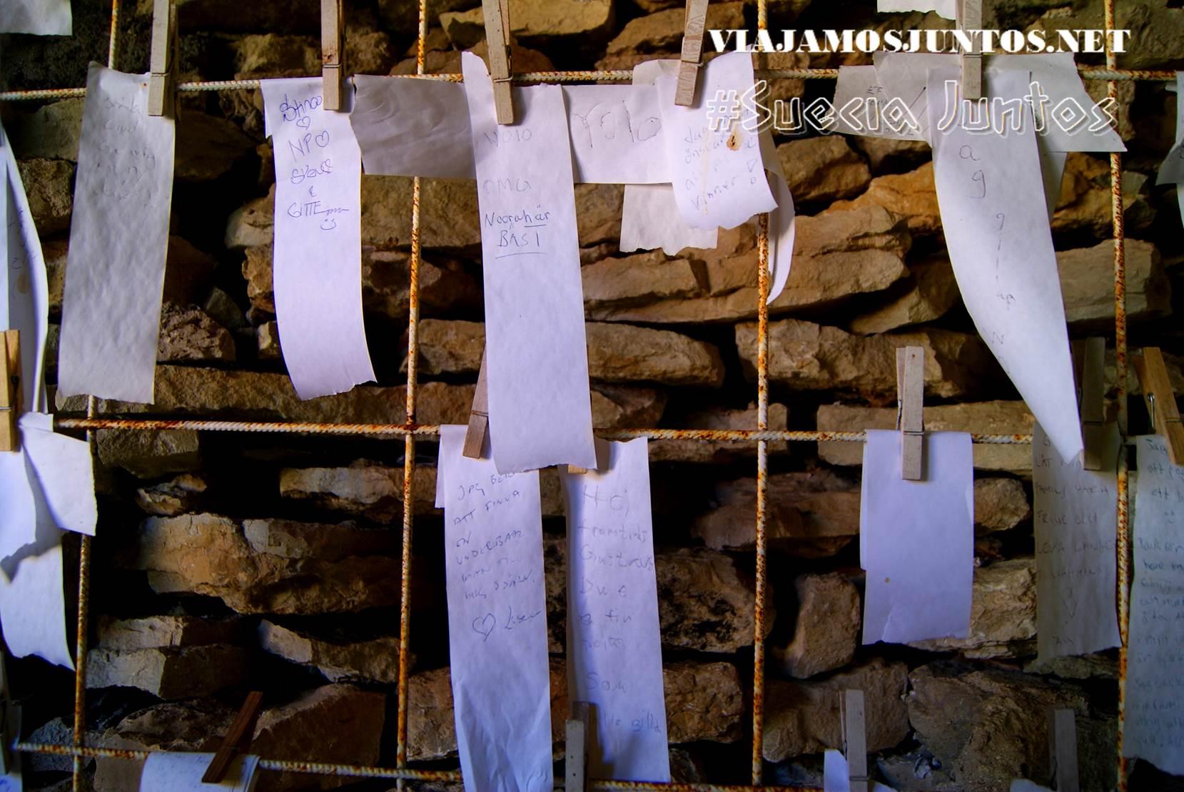Los mensajes con los deseos secretos, isla de Gotland, Suecia