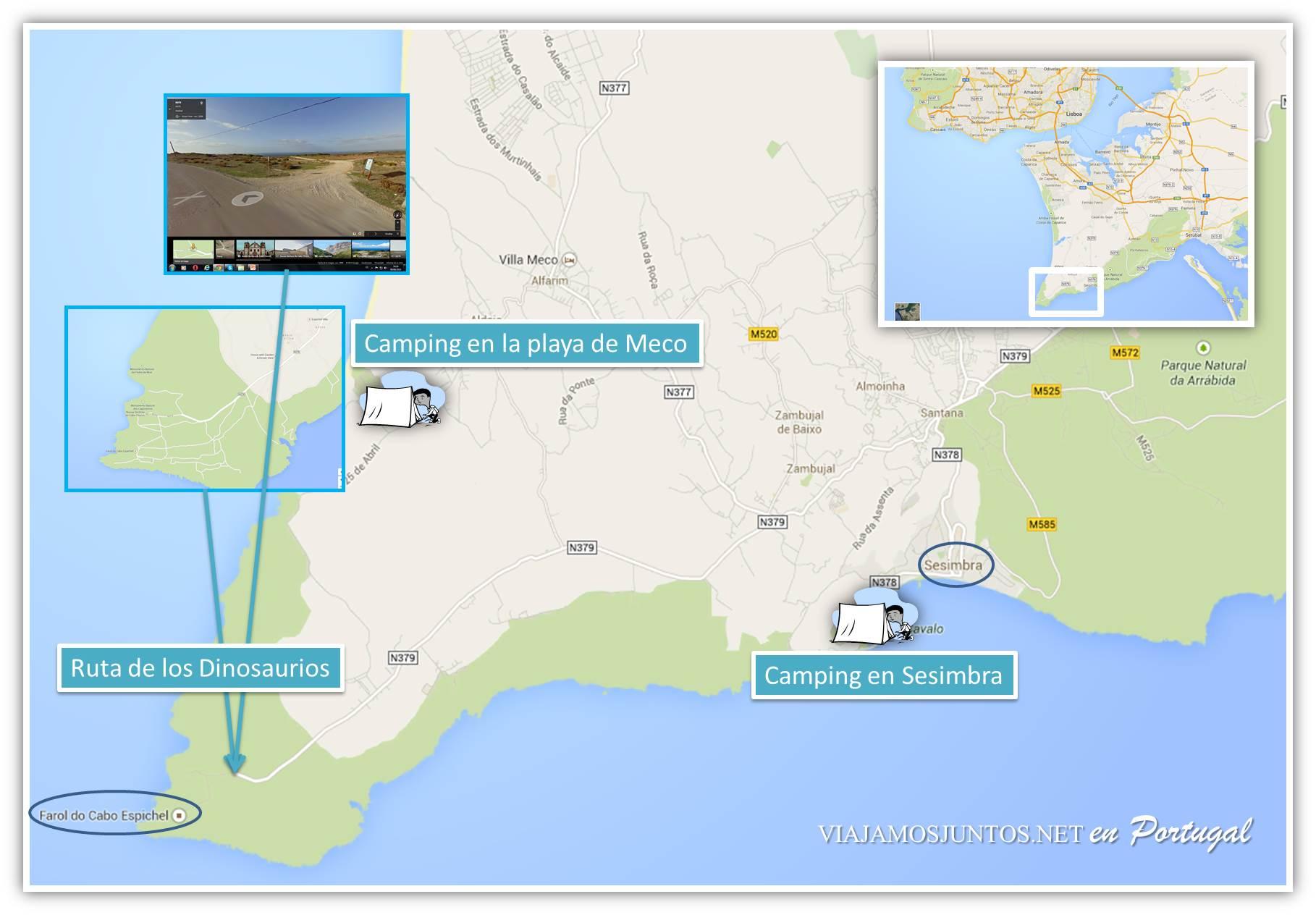 Sesimbra, Cabo Espichel, Ruta de los Dinosaurios y alrededores