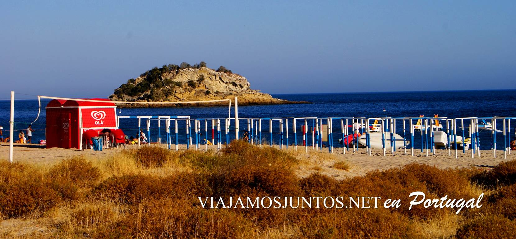 Playas de Portinho, península de Setúbal, Portugal