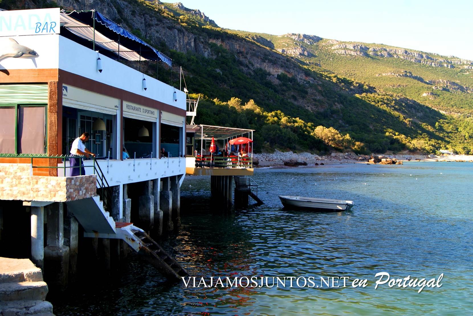 Restaurante de Portinho, península de Setúbal, Portugal