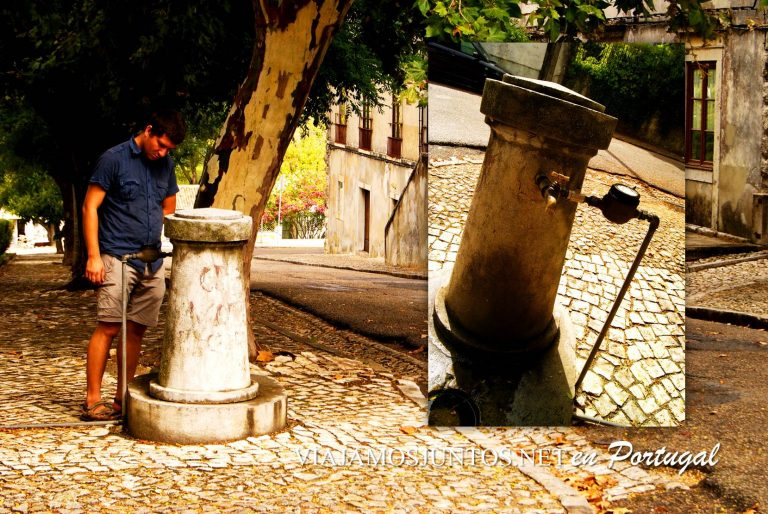 La fuente pública en Azeitao, Portugal
