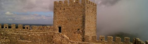 El castillo de Sesimbra, Portugal