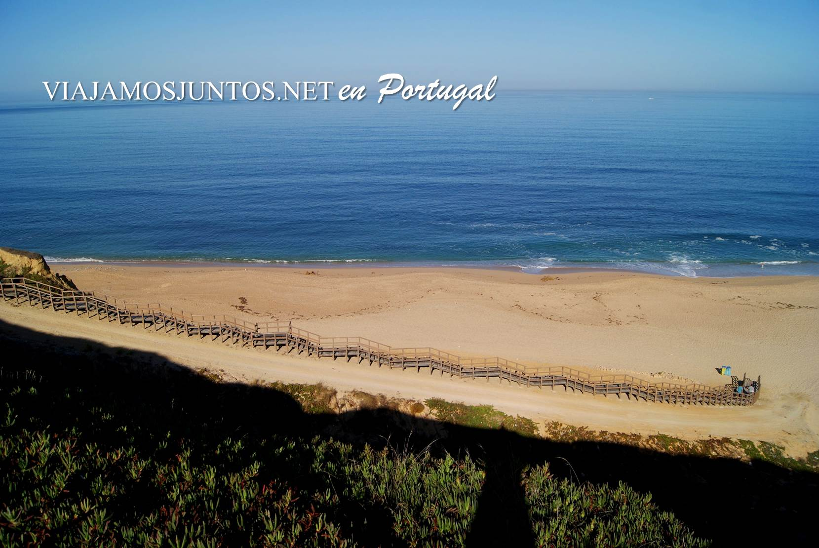 Escalera de la Playa do Meco, Costa Caparica, Portugal