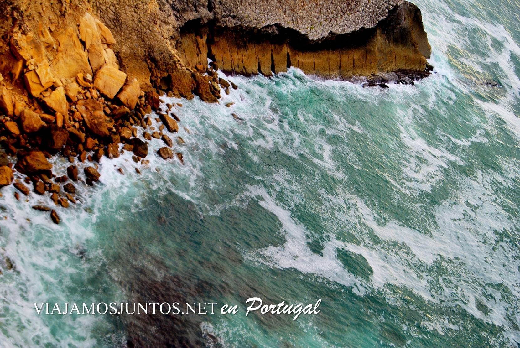 Las aguas bravas del Cabo Espichel, Portugal
