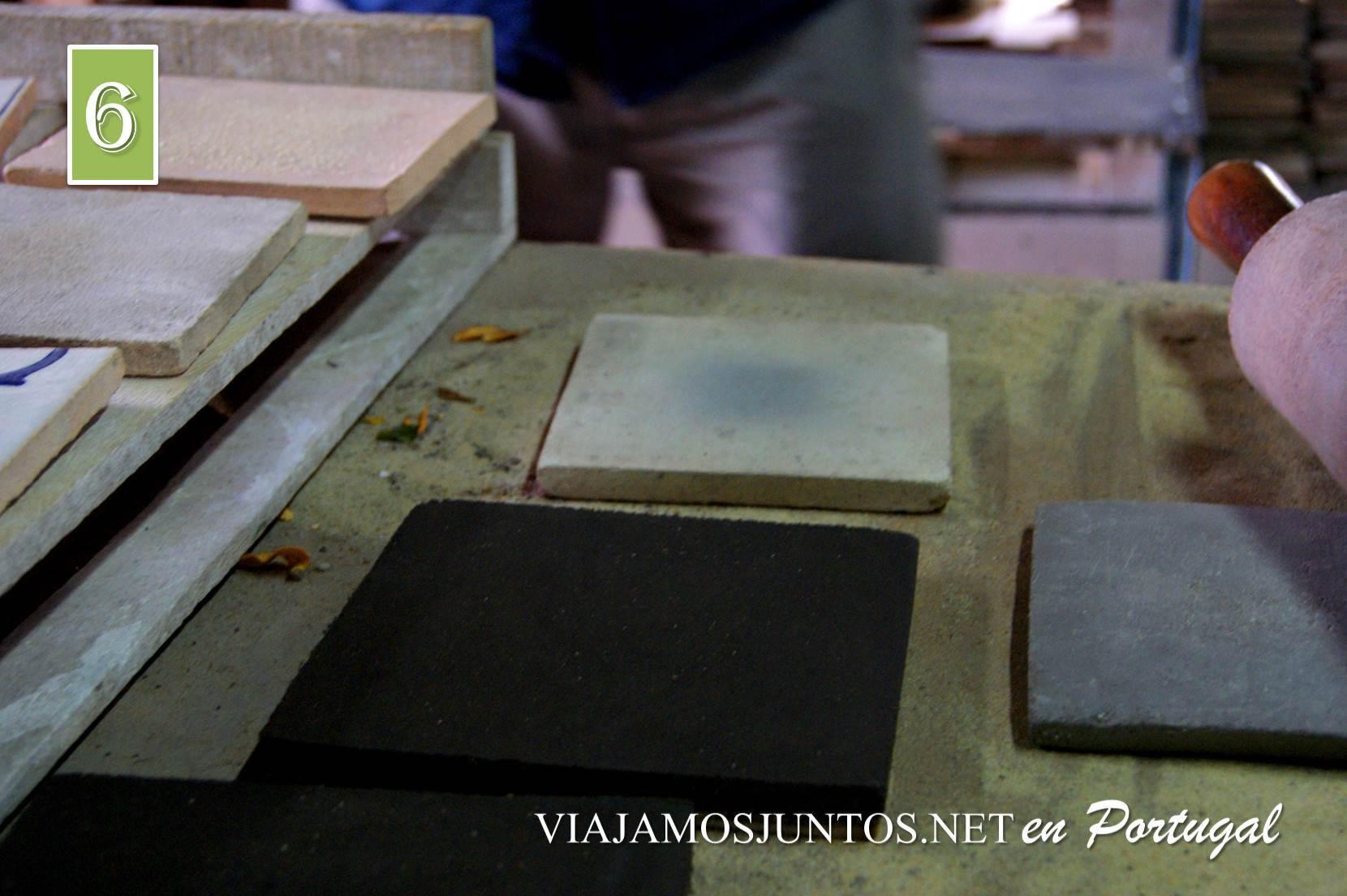 Taller de los azulejos de Azeitao, Setúbal, Portugal