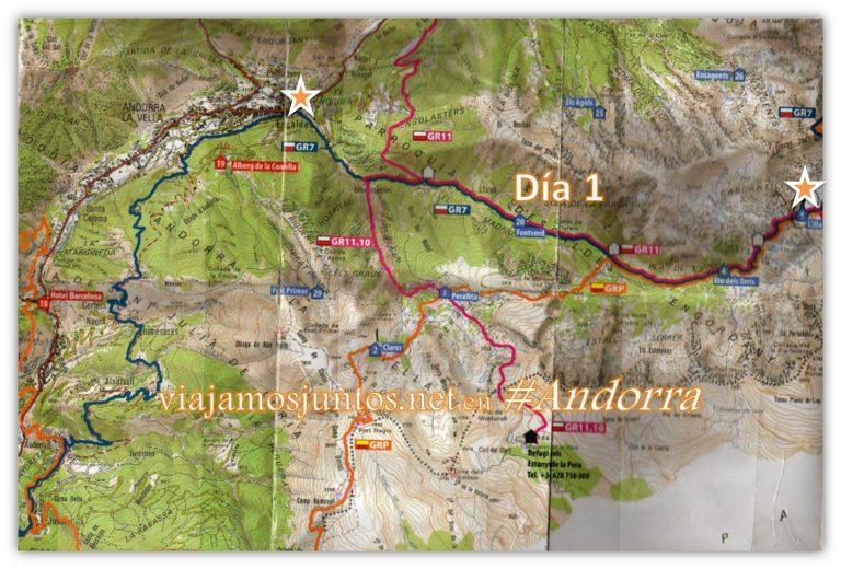Ruta GRP de Andorra, Desde Escaldes al refugio LIlla; trekking por los Pirineos Orientales