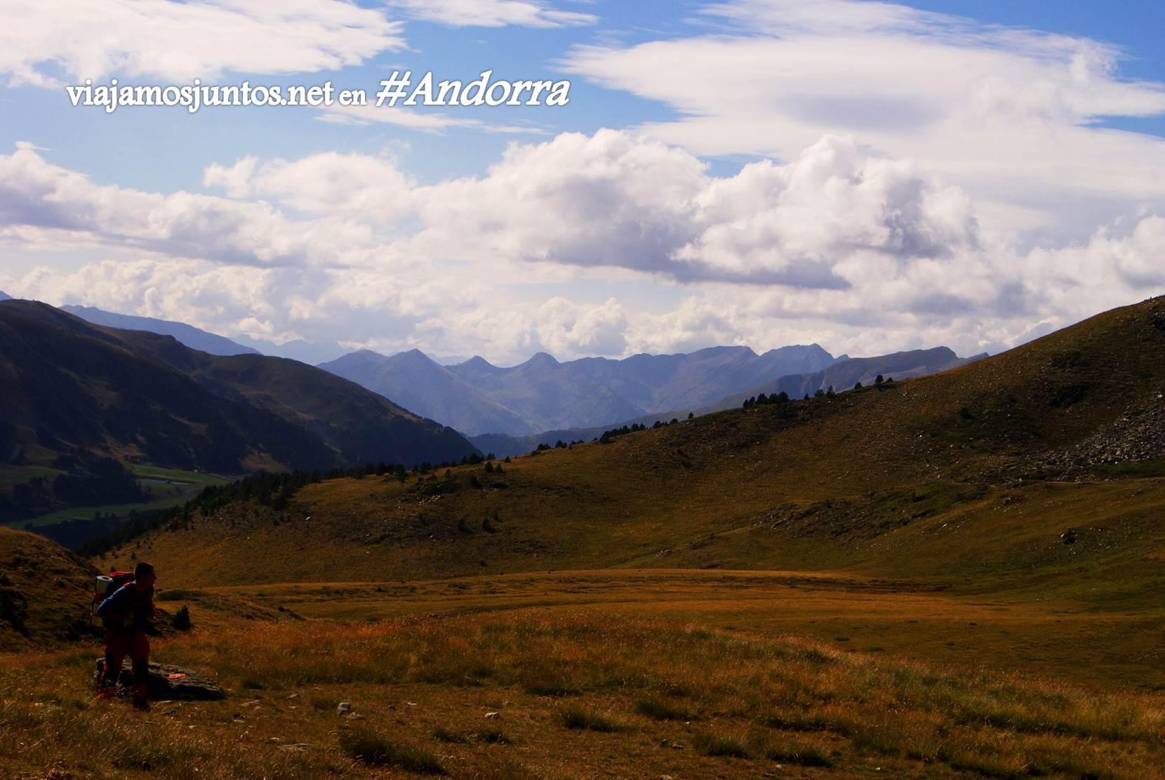 Primeras vistas desde primeras cumbres de GRP Andorra. Collet d'Ortafa