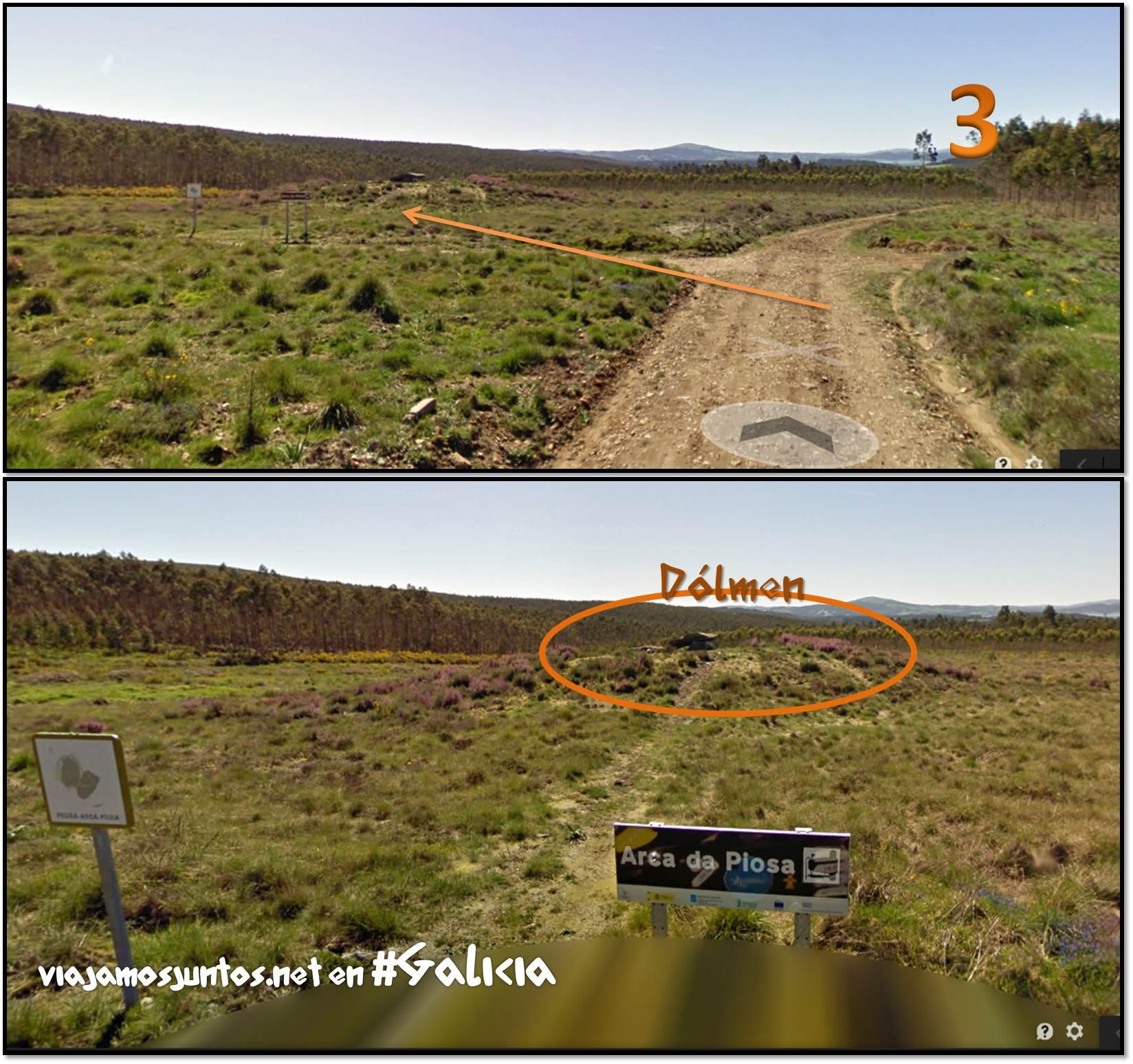 Dolmen de Arca da Piosa; Ruta de los dólmenes de Vimianzo; Dumbría, Costa da Morte, Galicia