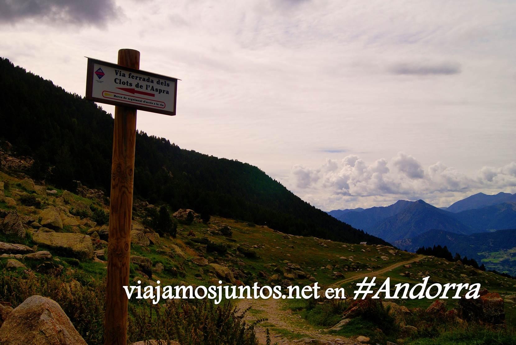 Direcciones para llegar a la vía ferrata Clots de l'Aspra; Encamp, Andorra