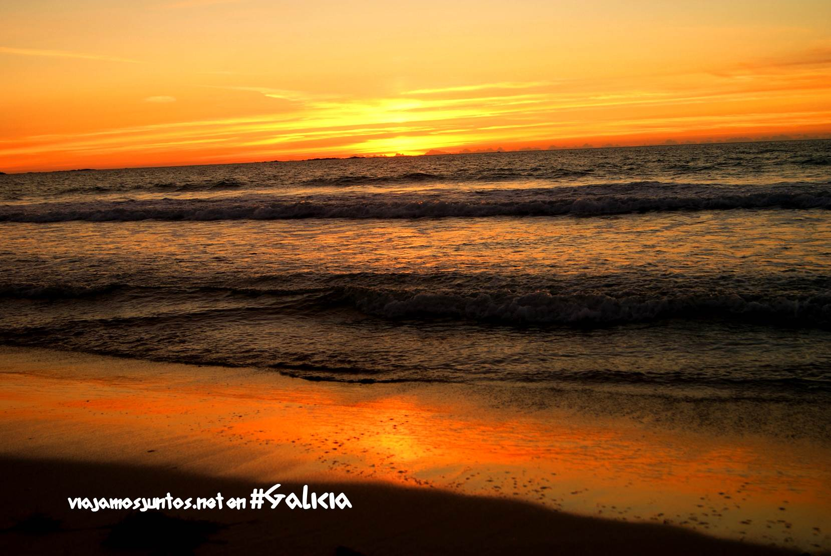 La playa de Carnota, Costa da Morte, Galicia