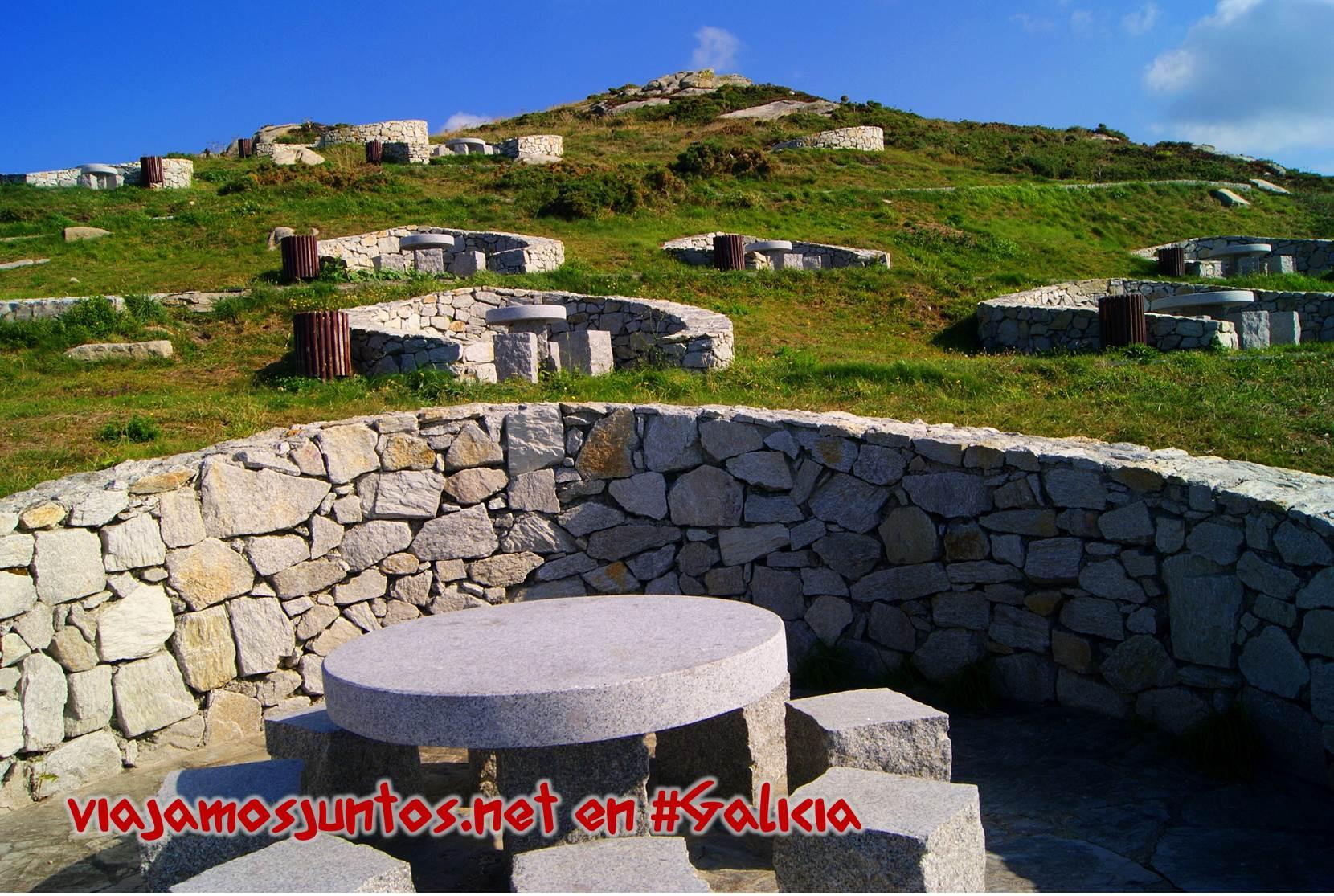 Cabo Laxe, Costa da Morte, Galicia; los merenderos