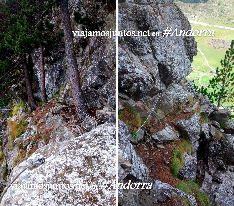 Imágenes de la vía ferrata Clots de l'Aspra; Encamp, Andorra