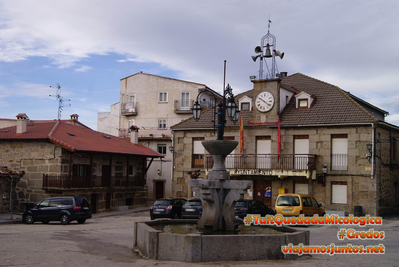 Ayuntamiento, Hoyocasero, Gredos, durante la #TuitQuedadaMicologica