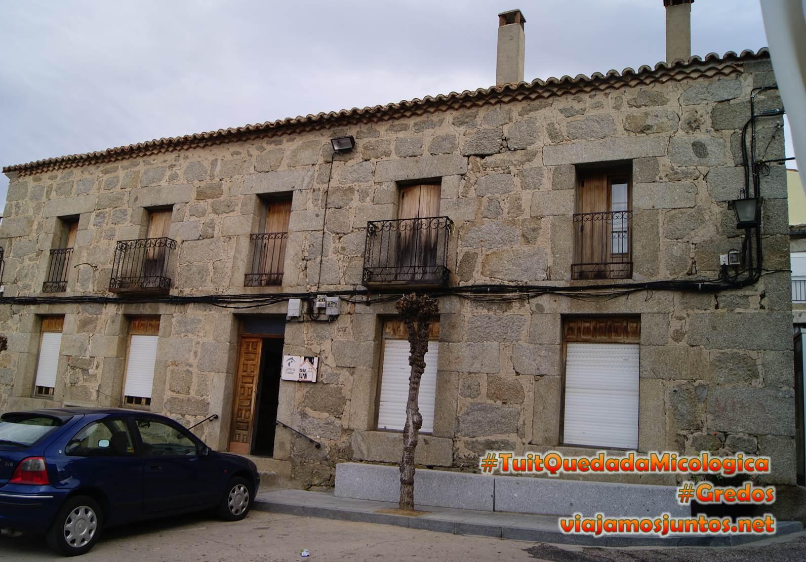 Casa rural Los Cuatro Balcones, Hoyocasero, Gredos, durante la #TuitQuedadaMicologica