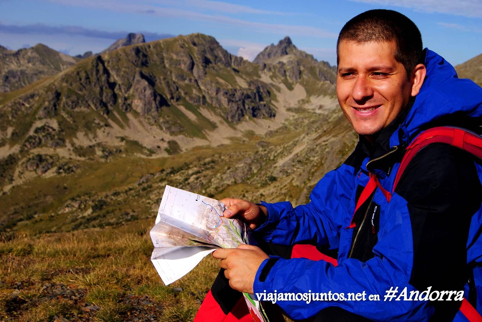 Mapa de los GRs de Andorra, Pirineos