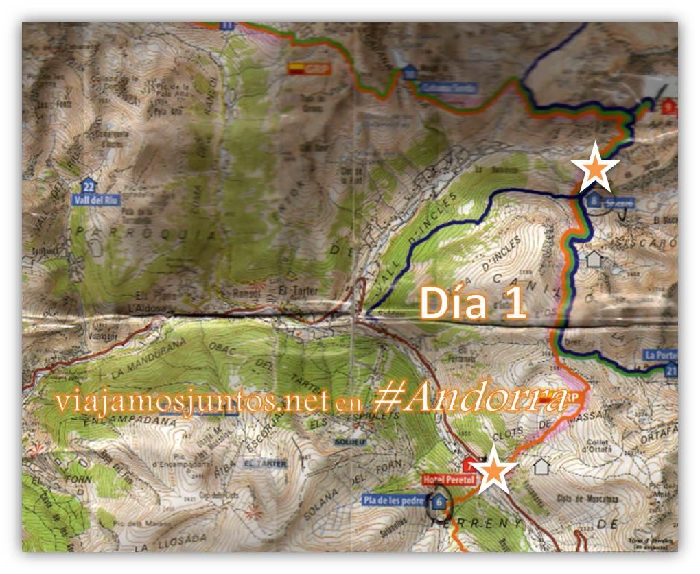 GRP de Andorra, trekking por los Pirineos Orientales, De Bordas de Envalira al refugio Siscaró