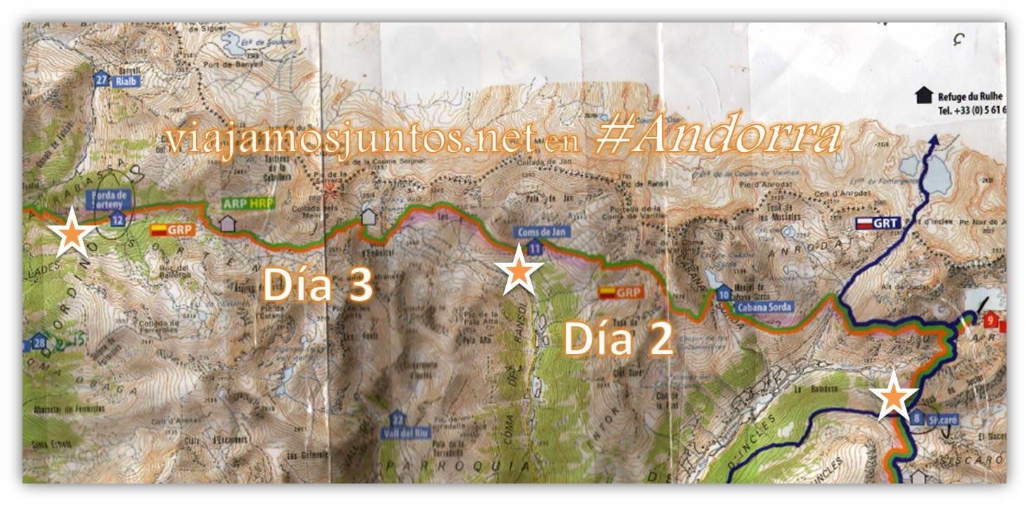 Ruta GRP de Andorra; trekking por los Pirineos Orientales