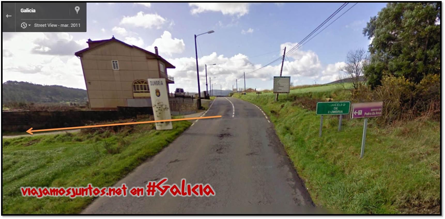 Ruta de los dólmenes de Vimianzo; El dolmen Pedra de Arca; Dumbría, Costa da Morte, Galicia