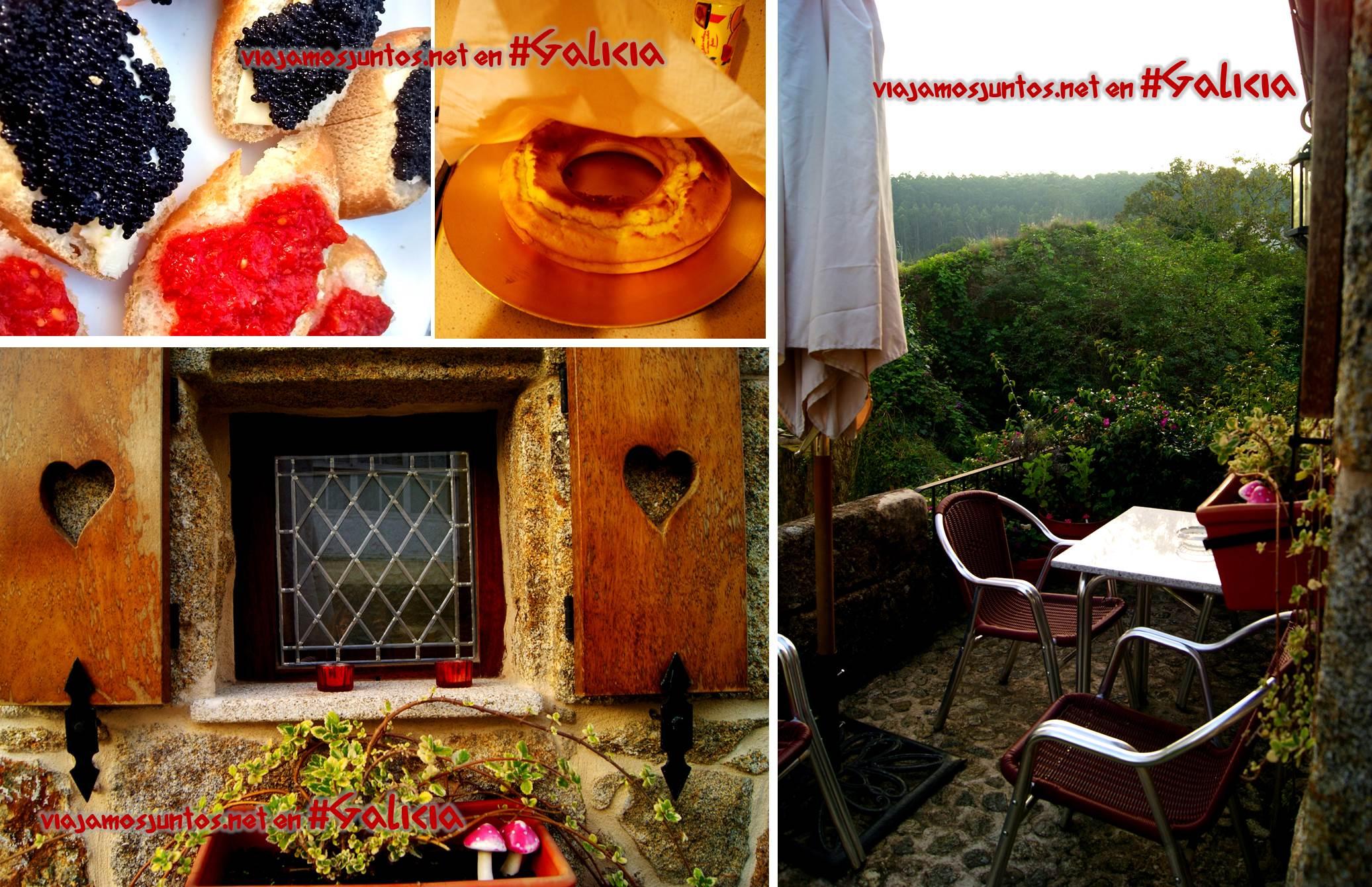 Desyuno en la terraza de la Casa de Carmen, Corcubión, Costa da Morte, Galicia