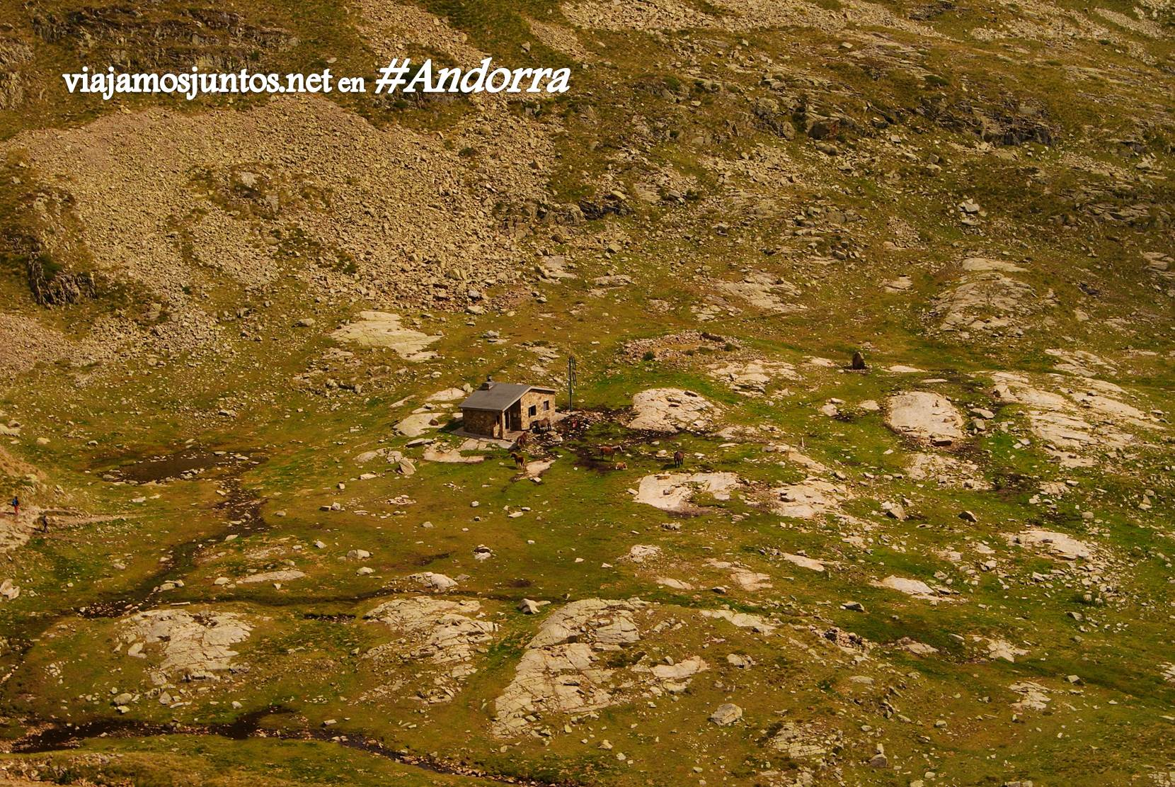 El refugio de Cabana Sorda desde las alturas, GRP, Andorra