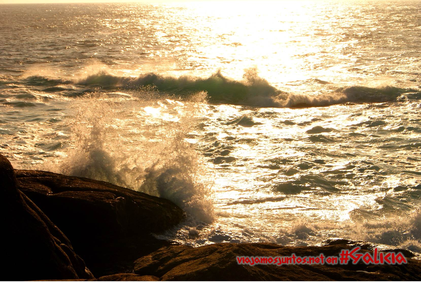 Puesta de sol en Muxia, Costa da Morte, Galicia