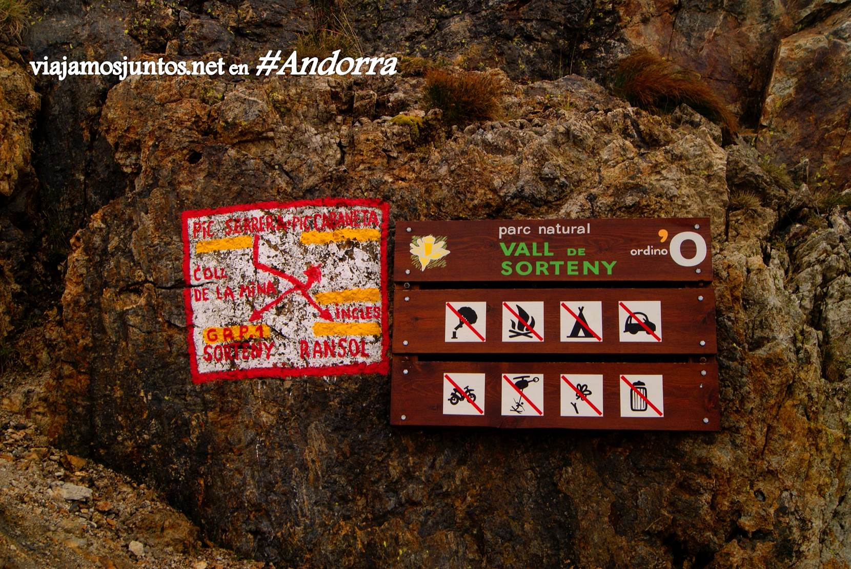 La señalización esquemática del GRP de Andorra
